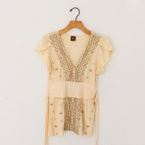 Language Embroidered Top